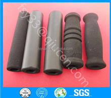 Bicycle Bike Butterfly Handlebar Grips Shock-absorbing Matte Soft Foam Sponge Grips Rubber Handle Bar Bright black