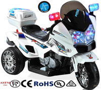 Crooza Kids Blue Police Motorcycle Scooter Tricycle Electric Ride On 12V Genuine New