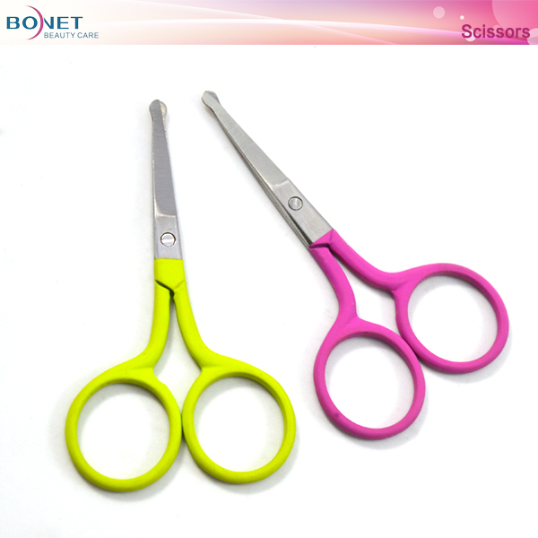 BSC0018 soft-touch coating handle beauty manicure scissors