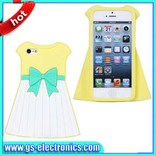 Elegant princess dress silicone case for iphone 5 protective covers for iphone 5