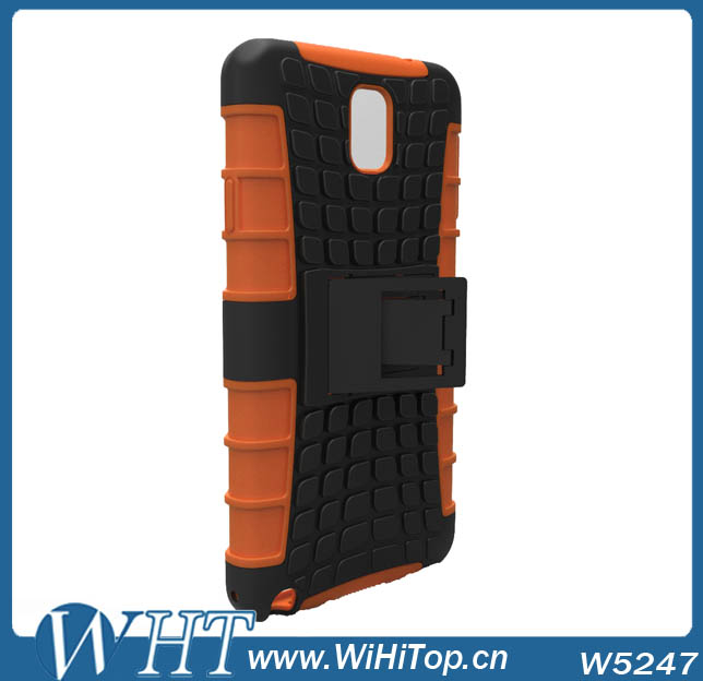 Customized Hybrid PC Silicone Back Stand Case Cover Tablet Cover For Samsung Galaxy Note 3 N9000
