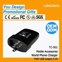 2013 Hottest promotional home appliance gifts Travel Charger (TC-001) with fully CE&ROHS&FCC approved