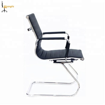 906D# Cheap office PU leather sled base meeting chairs