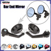 BJ-RM-046R round CNC machined aluminum bar end motorcycle rear view mirror for off road bike
