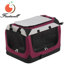 Soft-Sided Pet Dog Crate Carrier Kennel Home Travel Pet Bag