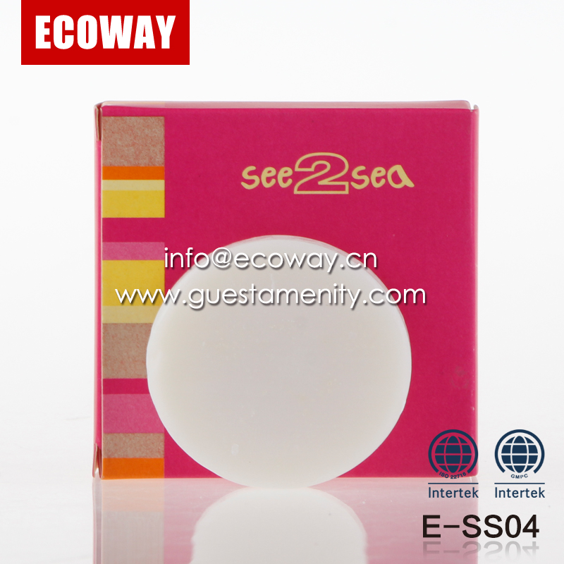 20g hotel white soap disposable best round shaped bath soap