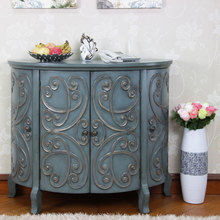 hot sell semi-circle cheap wooden storage cabinet