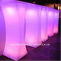 Curved Acrylic LED Highboy Table