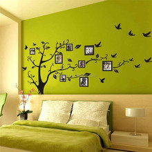 PVC self adhesive removable picture tree wall stickers