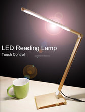 Hotel bed reading lamp portable desk lamp with USB dimming folding