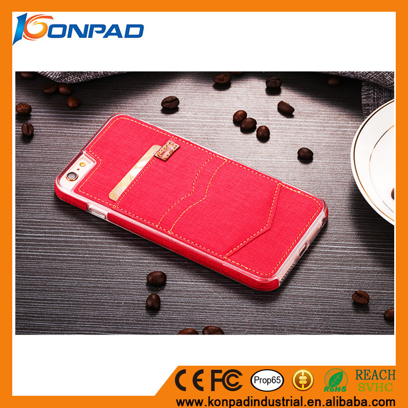 Handmade Stitching Denim Fashion Appearance Card Holder slot series Case phone Case for iPhone 7