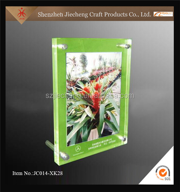 2016 customized transparent clear acrylic sheet frameless photo picture frame