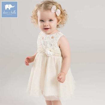 485abe64eb6 Dave bella fashion baby girl dress children birthday party wedding summer  clothing infant toddler sleeveless dress