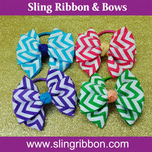 Chavron Ribbon Fancy Hair Ponytail Holder For Women