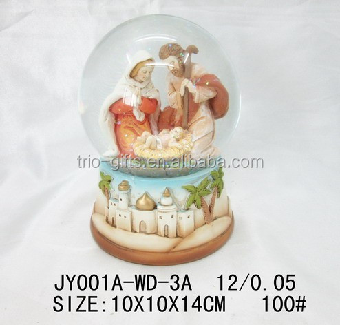 Wholesale religious snow globe resin water ball decoration