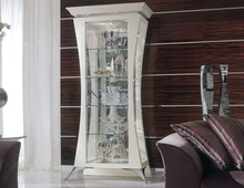 BL11309A-Classic italian style small showcase luxury wooden glass display cabinet
