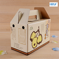 hand made folding corrugated cardboard fruits storage packing box with handle
