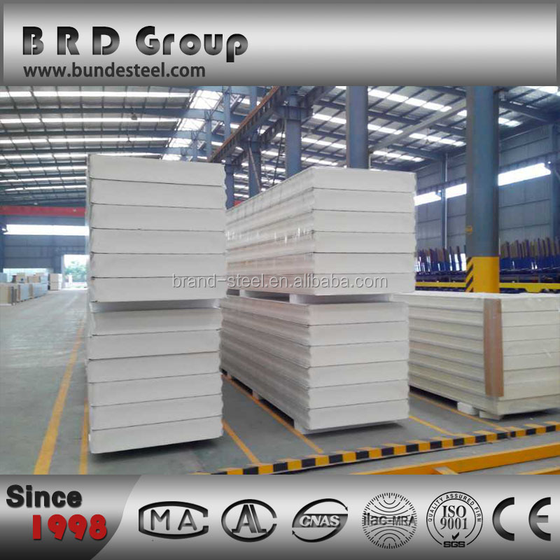 Steel cool room foam pu sandwich panel