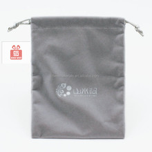 Wholesale drawstring velvet pouch bags velvet headphone bag gem pouch stand up cotton pouches with drawstring