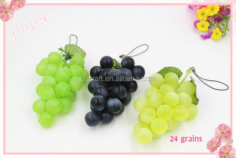 24 grains bunches artificial plastic grapes home kitchen for Buy grape vines for crafts