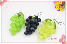 24 Grains Bunches Artificial Plastic Grapes Home Kitchen Crafts Decorative Plastic Fruit Centerpiece