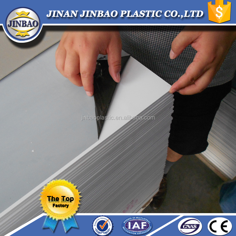 China factory sell thick white black grey rigid hard plastic sheets