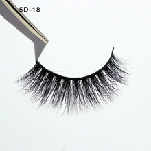 5D mink fur lashes double flare knot eyelash