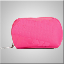Polyester Fashion Cosmetic Bag Pink Color Nice Design Makeup Case