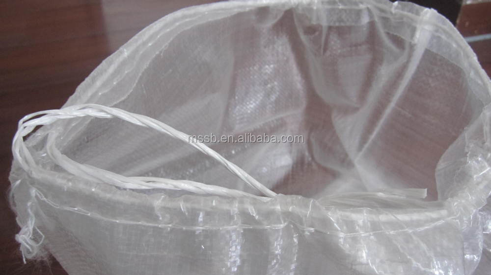 transparent pp polypropylene woven bag for bird chicken horse food