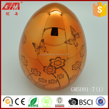 glass crafts supplier wholesale hand blown led egg shape lamp outdoor
