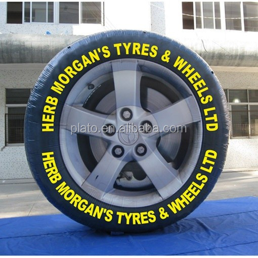 5m Best selling hot giant inflatable tire advertising with logo for outdoor / event