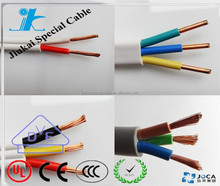 3 cores 1.5 mm2 HO5VV-F 300/500V copper conductor PVC insulation shielded wire and cable