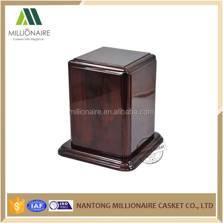Small wooden boxes wholesale adult urns for ashes