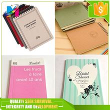 Customized printing recycled kraft paper note book printing custom elegant high quality notebook