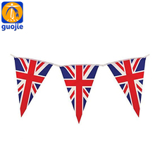Custom triangle pennant flags party bunting