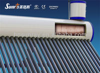pre-heated copper coil high pressure solar water heater residential
