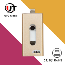 Innovative Retractable Design Mobile Phone OTG USB I Flash Drive for iPhone, iPad, Samsung, Android phones
