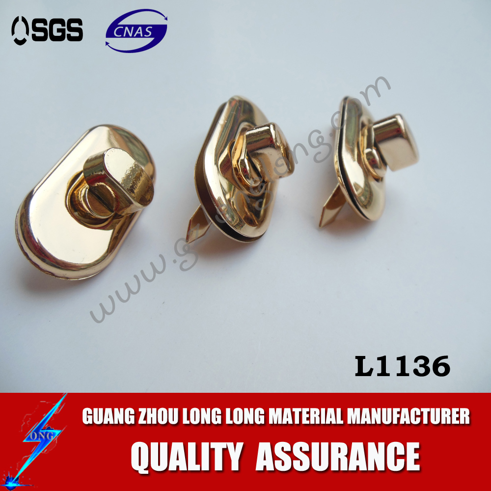 Metal oval shape twist lock metal locks for purses/bags/boxes/luggages