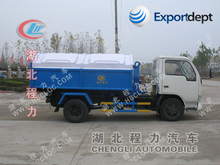 dongfeng 3000L used roll off garbage truck with competitive price