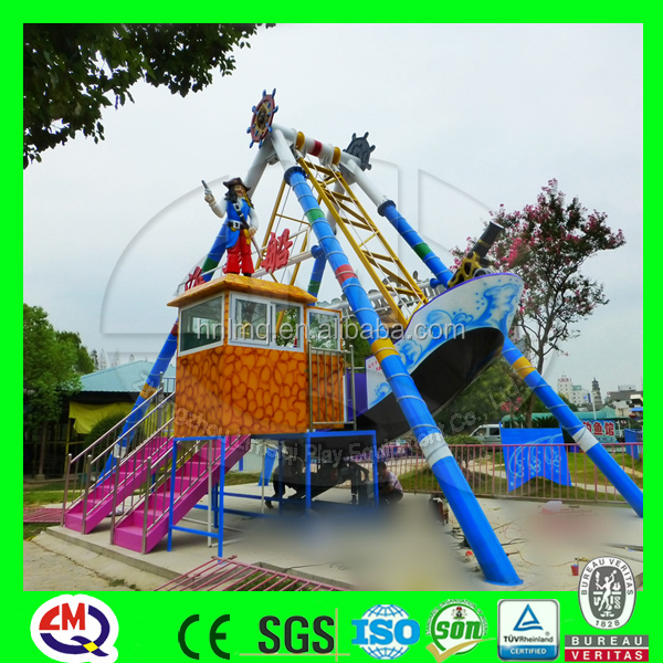 fun city games machine BV, ISO certified pirate ship with LED lights theme park equipment for sale