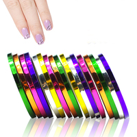 NSTL-2301##30Pcs Mixed Colors Rolls Striping Tape Line DIY Nail Art Tips Decoration Sticker Nail Care