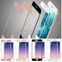 Colorful Tempered Glass Silk Printing Screen Protector for iPhone 6 6s
