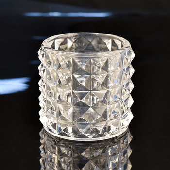 Luxury machine made glass candle jars