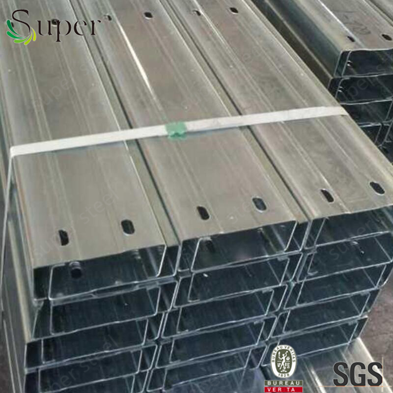 customized drilling hole steel structure truss purlin galvanized