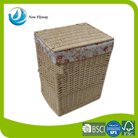 Best selling decorative printed large basket storage basket with lid