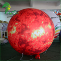 LED Lighting PVC Inflatable Mars Helium Balloon, Custom Made Inflatable Planets System Ball For Sale