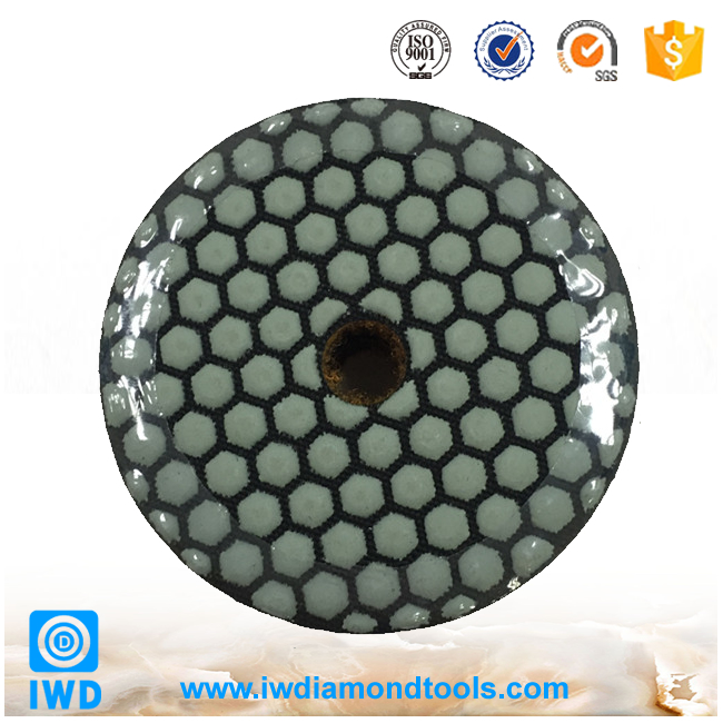 New design customized 17 inch diamond dry polishing pads