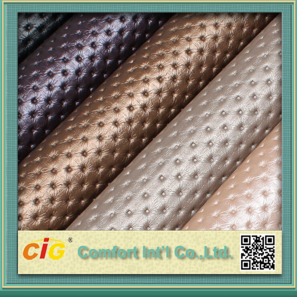 Durable Waterproof Embossed PU PVC Synthetic Leather