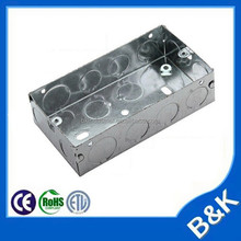 UK Steel Mounted Back Box Metal Outlets Steel Back Boxes special for British-style rectangular wall switch socket