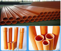 Electric cable Orange pvc pipe
